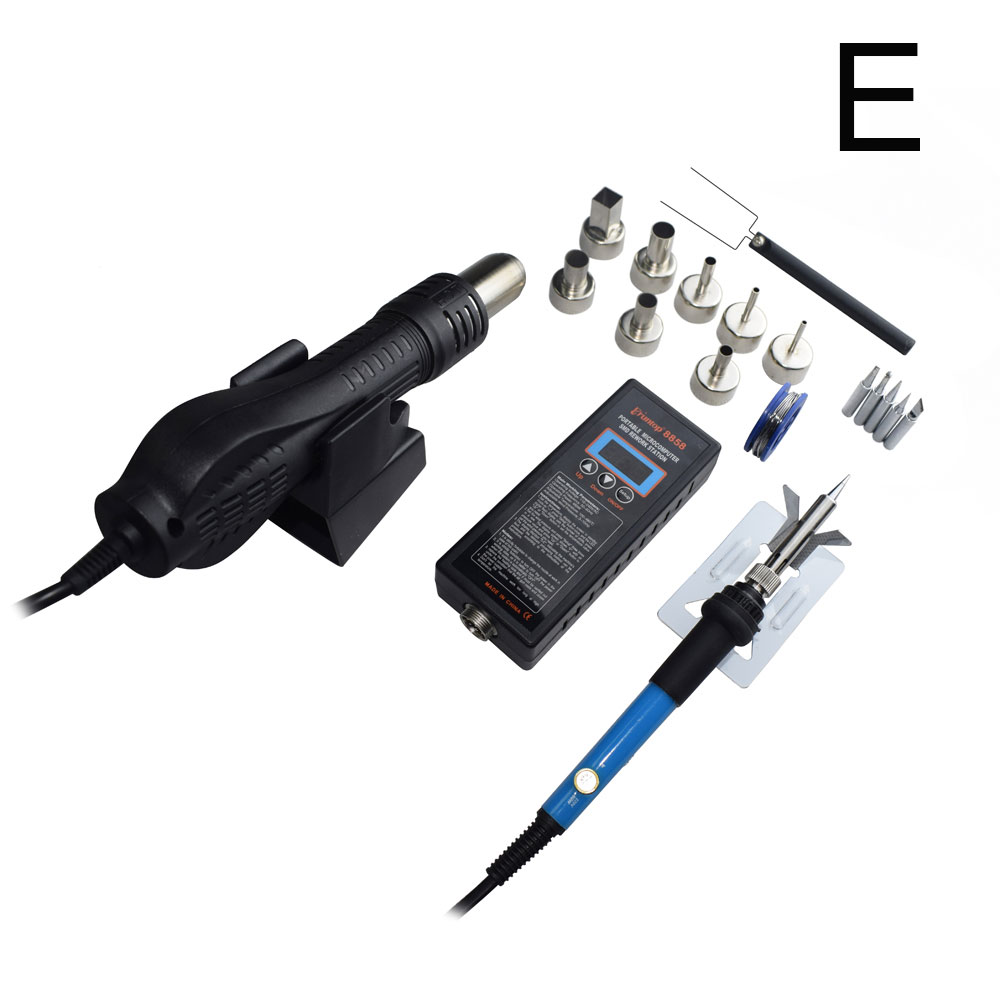 High quality 110V/220V Portable BGA SMD Rework Solder Station DIY Hot Air Blower Heat Gun Eruntop 8858-in Soldering Stations from Tools on Aliexpress.com | Alibaba Group