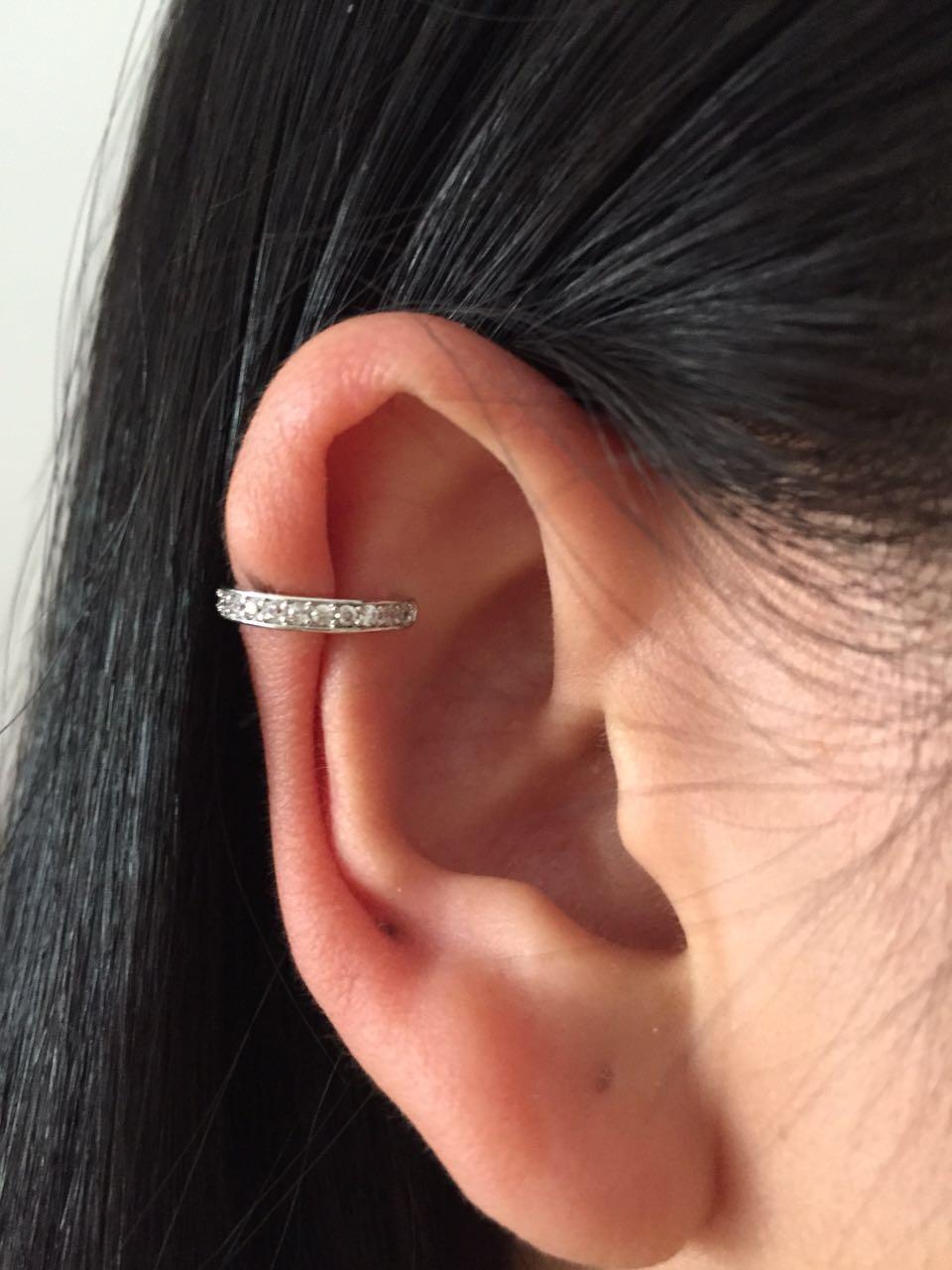 Brinco Ear Cuff Ear Clip Zirconia Pendientes Joyas En Una Oreja Para Las Mujeres Joyería Earing Oído Derecho Solo Dama Accesorios