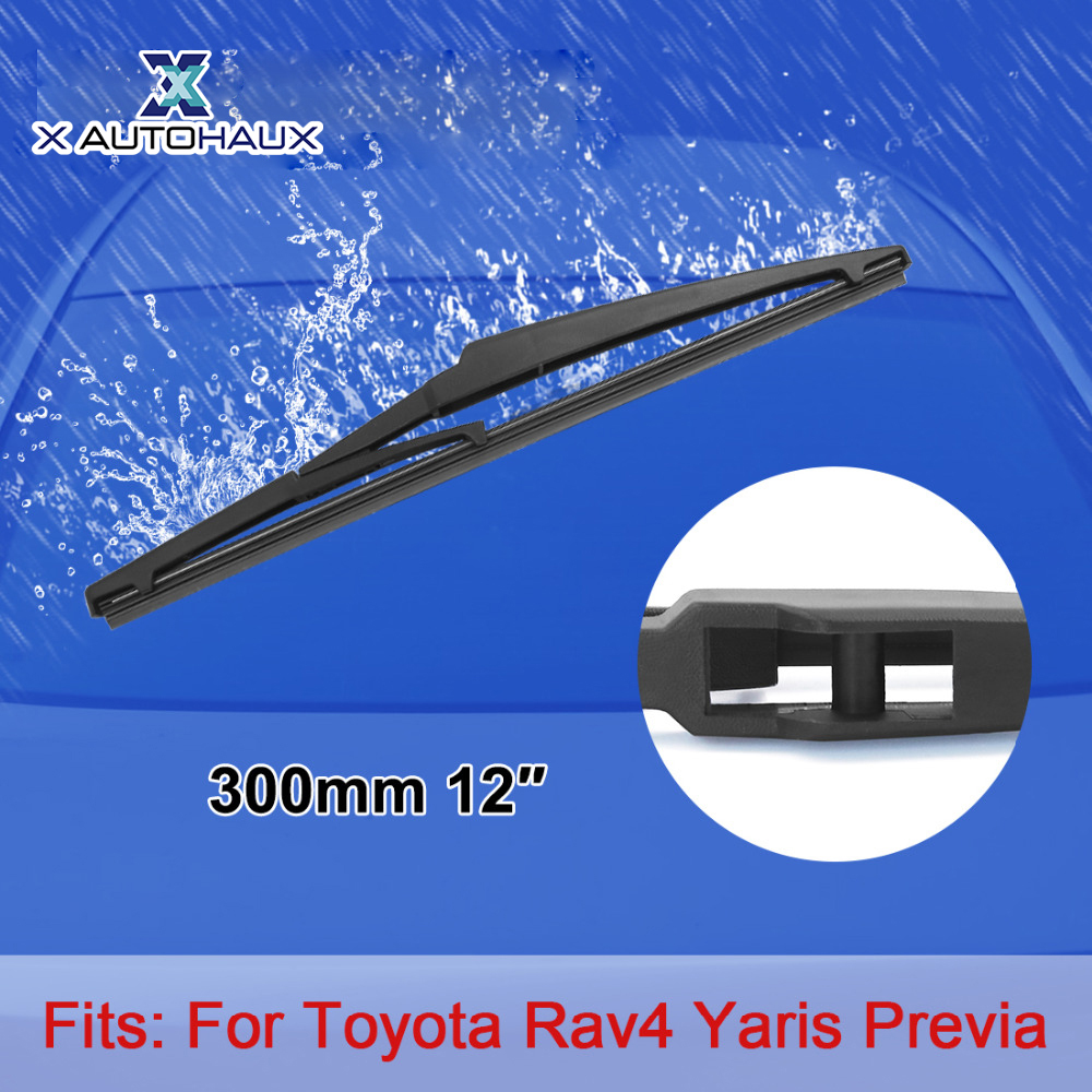 X AUTOHAUX 300mm 12 Rear Car Windshield Wiper Blade For Toyota Rav4 Highlander 2000 TO 2016 For Yaris Previa Venza Land Cruiser
