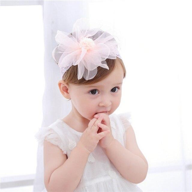 Fashion Newborn Toddler Headband Children s Cute Hair Accessories Baby Band  Lace Pentagram Flowers Girl Elastic Bands Headwear db649a0b9f64