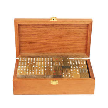High Quality Solid Wood Box Domino Game Pai Gow DOUBLE 6/9/12 Dominos Board Game Puzzles Green Sandalwood Dominoes Entertainment - DISCOUNT ITEM  38% OFF Sports & Entertainment