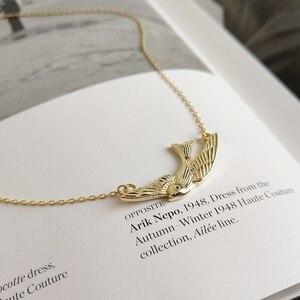 Image 4 - Louleur 925 Sterling Zilveren Gratis Fly Vogels Hanger Ketting Goud Originele Ontwerp Chic Elegante Ketting Voor Vrouwen Fijne Sieraden