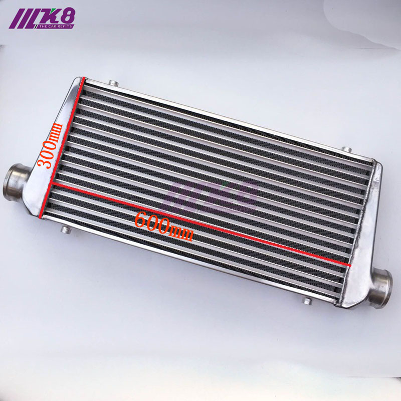 Radiador Turbo universal de 600x300x76mm barra y placa OD = 76mm intercooler de montaje frontal