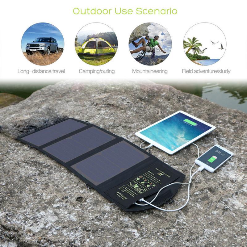 3dde59d350 ALLPOWERS 5V21W Cella Solare Caricatore del pannello di batteria solare  powerbank per cellulare iPhone iPad tablet/sport esterno Freeshipping in  ALLPOWERS ...