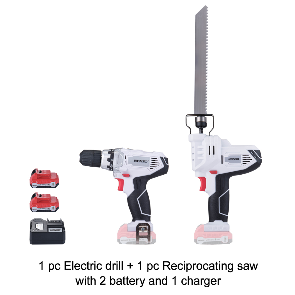 NEWONE 12V Hand Reciprocating Saw and Electric Power Drill set Ideal for DIY Cutting Wood Plastic