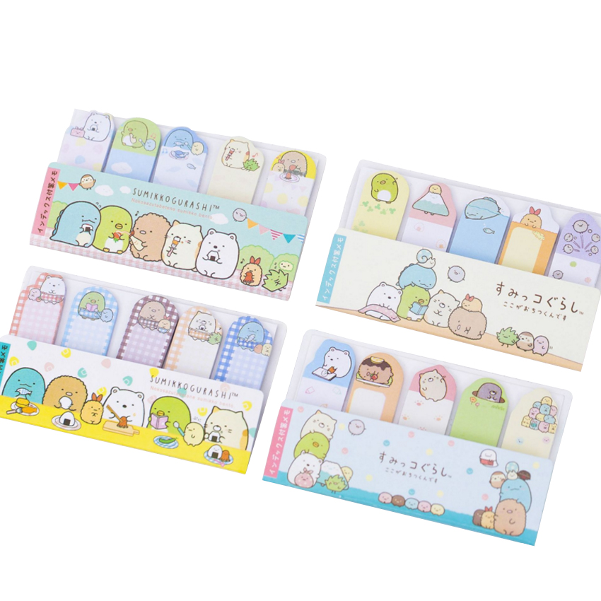30packs/lot cute mini cartoon Japanese finger shape memo sticky decorative message label bookmark stationery wholesale