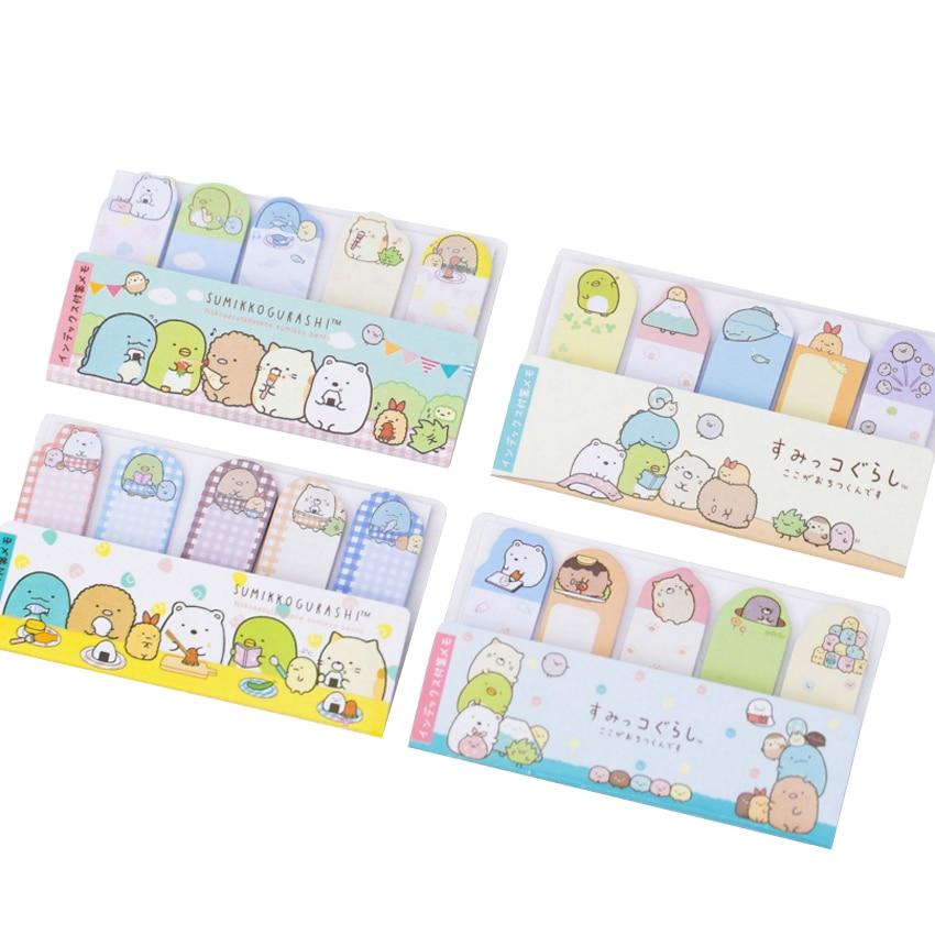 30packs/lot cute mini cartoon Japanese finger shape memo sticky decorative message label bookmark stationery wholesale