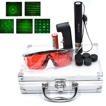 Green Laser pointer  High Power hunting Dot tactical 532 nm 5mW 303 laser sight Five heads lazer Pen Burning Match