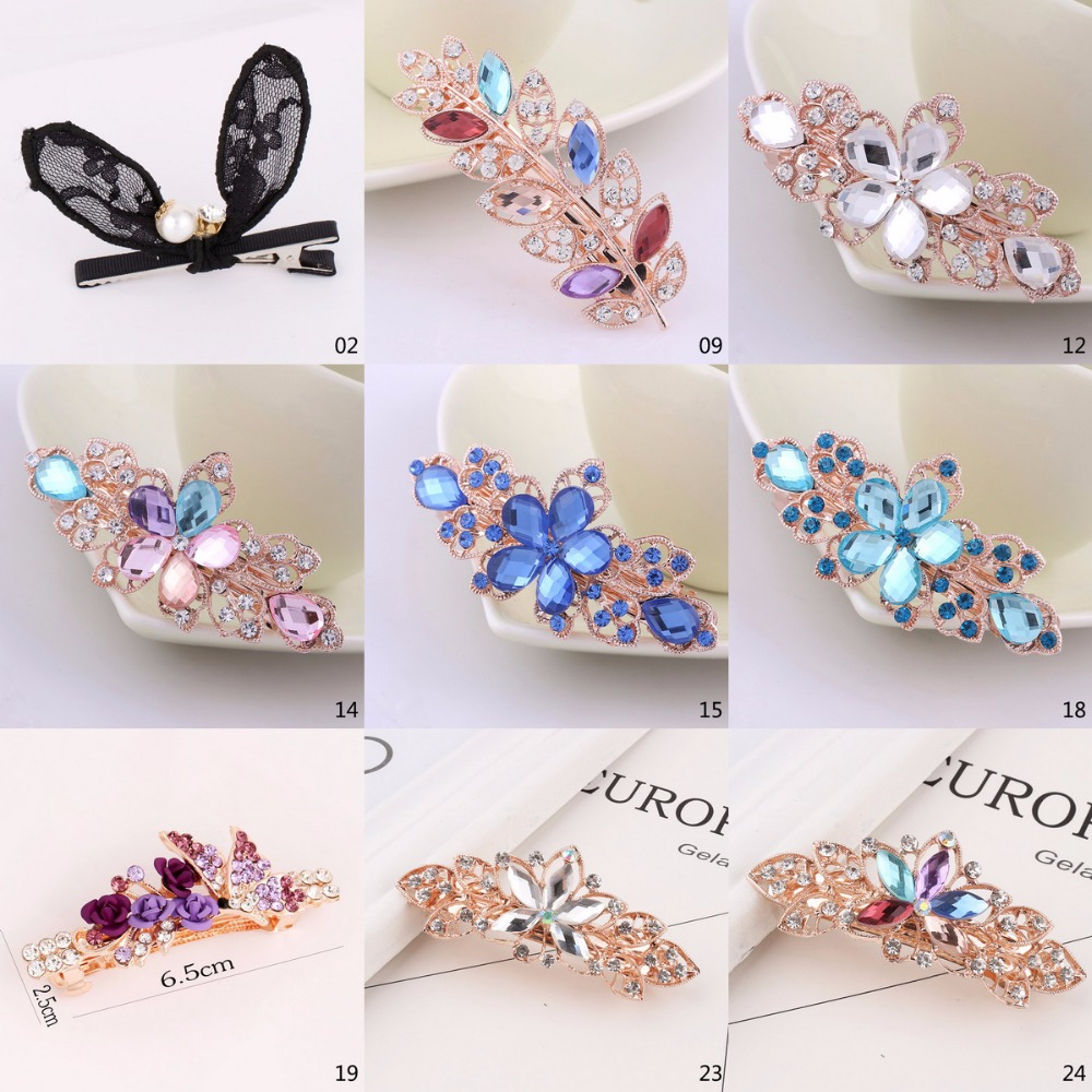 Reasonable Top Quality Shinning Mixed White Red Blue Rhinestone Girls Crystal Flower Barrettes Clip Hairpin Head Wear Jewelry Accessories Jewelry & Accessories Jewelry Sets & More