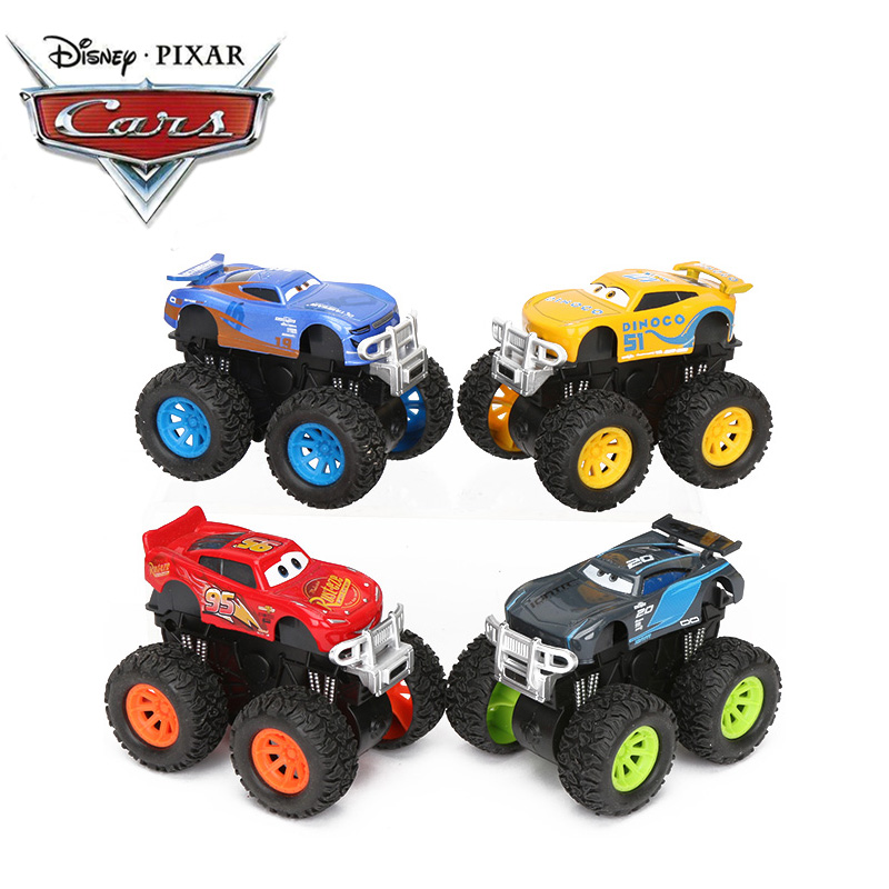 Exclusive 9cm Stunt Big Foot Die-cast Car Disney Pixar Cars 3 Toys Lightning McQueen Jackson Storm Dinoco Pull Back Cars Model