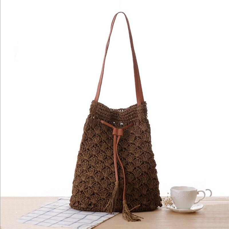 Women Bag 2016 New Bohemian Knitting Tassel Beach Bag,Women Casual ...