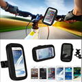 Motorcycle Bicycle  Bike Handlebar Holder Mount + Waterproof Bag Case For iPhone 5S 6 6S 7 Plus Huawei Samsung Mobile Phone