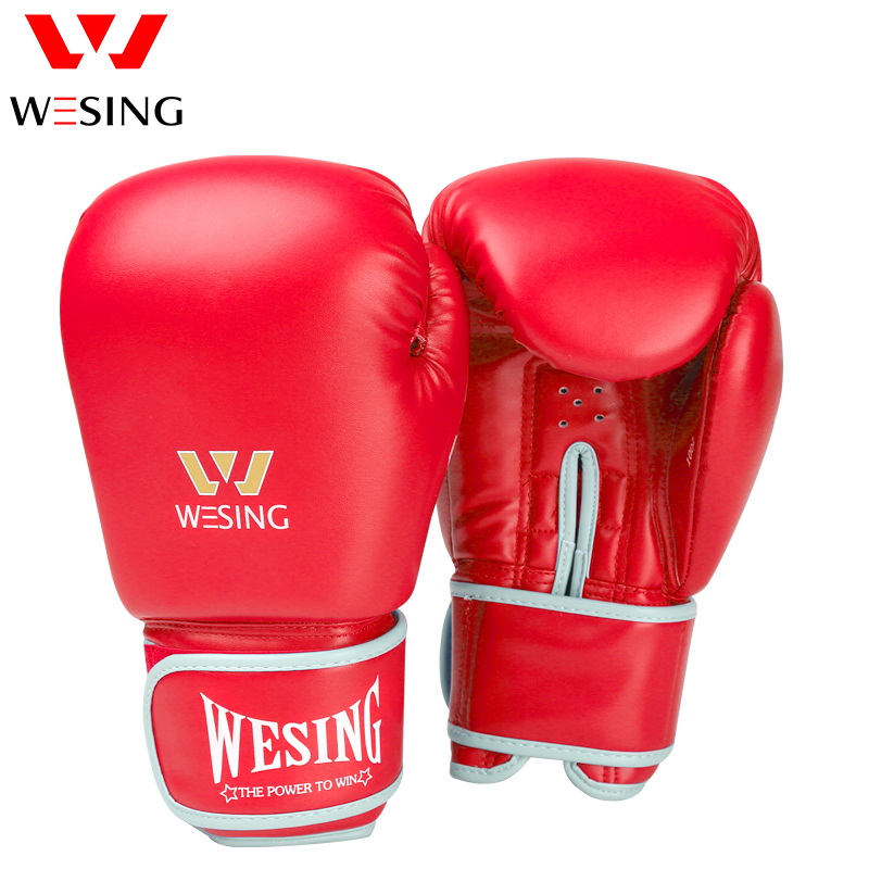 Wesing Pro Muay Thai MMA Boxing Gloves Adult Training Sparring Martial Arts Sanda Boxer Gloves Mitts Equipment 6001
