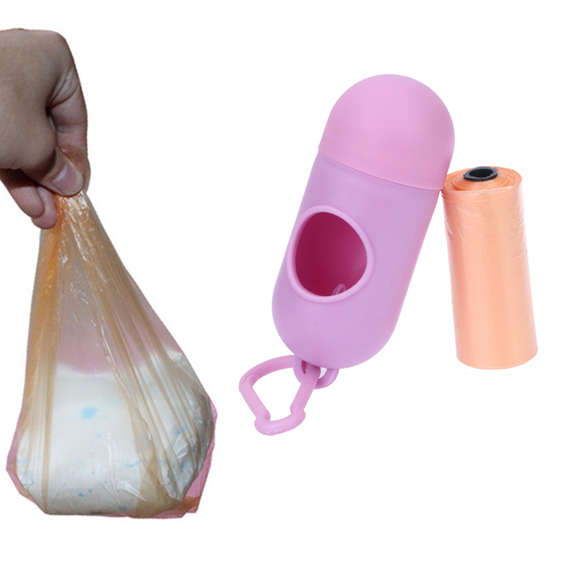 Portable Baby Diapers Abandoned Bags Rubbish Bags Case pet Garbage Bag Removable Box Nappy Bag For Baby Care Tool
