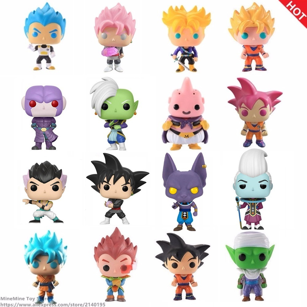 ZXZ Anime Dragon Ball Z Super Saiyan Pop Vegeta Trunks Gohan Doll Action Figures Dragonball Figurine Collection Model Toy