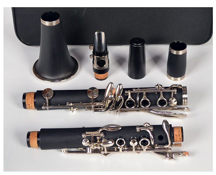 17 key B the clarinet clarinet bB western instruments nickel plated abs resin17 key B the clarinet clarinet bB western instruments nickel plated abs resin
