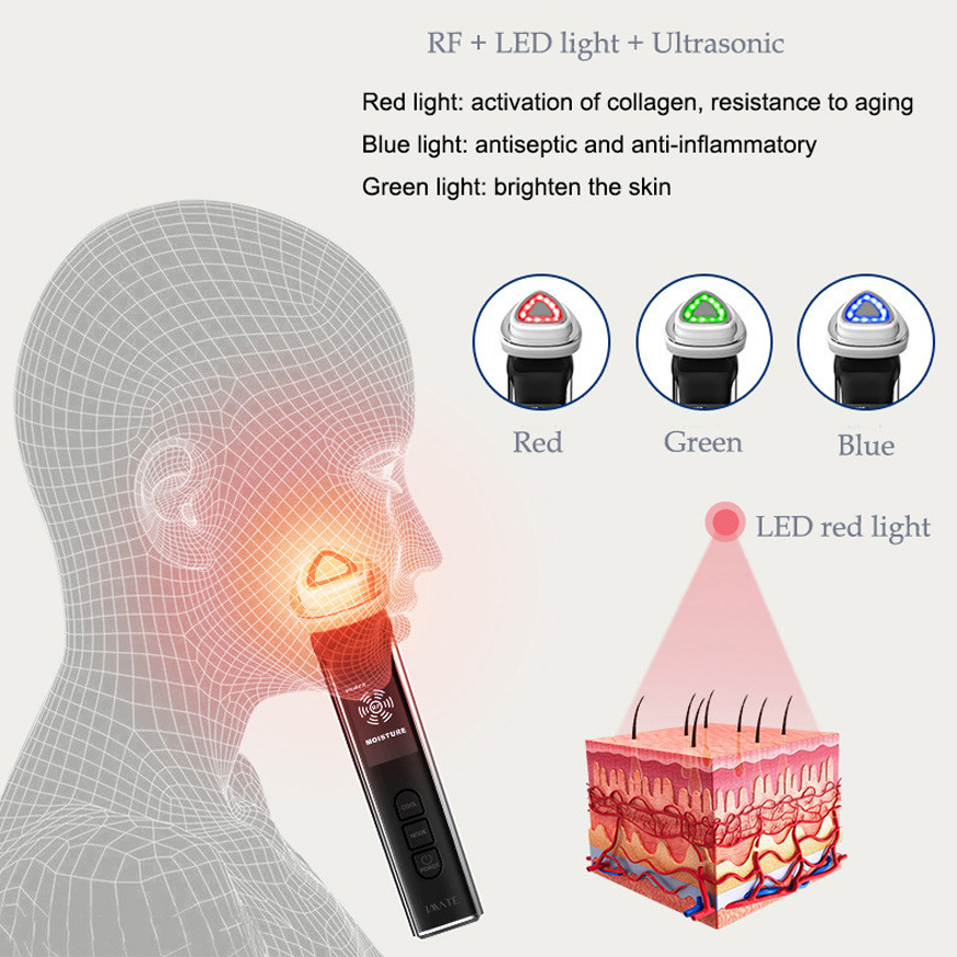 Radio Frequency Facial Machines LED Light Photon Therapy Face Lift Skin Rejuvenation Wrinkle Removal RF EMS Beauty Instrument-in Face Skin Care Tools from Beauty & Health    2