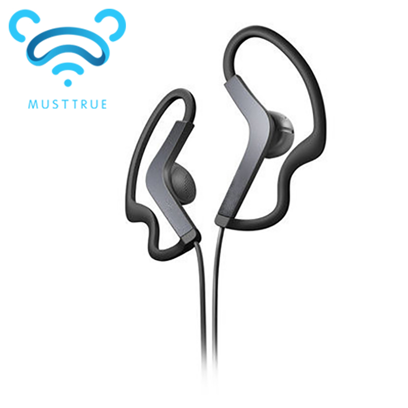 Musttrue Wholesale 3.5mm sport Earphones Headphone Headset with mic For iPhone Samsung Xiaomi MP3, High quality Bass for running