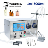 ZONESUN Double Head Magnetic Pump Beverage Perfume Water Juice Essential Oil Electric Digital Liquid Bottle Filling Machine