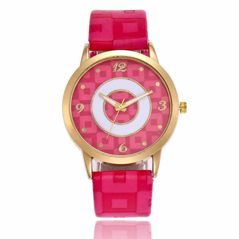 Lasperal Для женщин кварцевые часы для Для женщин плед пояса из искусственной кожи цифрами ручной часы браслет женская одежда наручные часы Прямая доставка