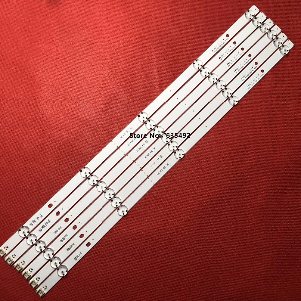New Kit 10 pcs 5LEDs 590mm LED strip for LG TV 32LH510B 32LH51_HD S SSC_32INCH_HD LGE_WICOP_SVL320AL5 Innotek direct 32inch CSP