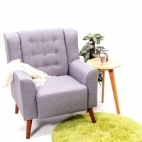 Modern Linen Fabric Tub Chair Armchair Sofa Dining Living Room Lounge Office HOT SALE