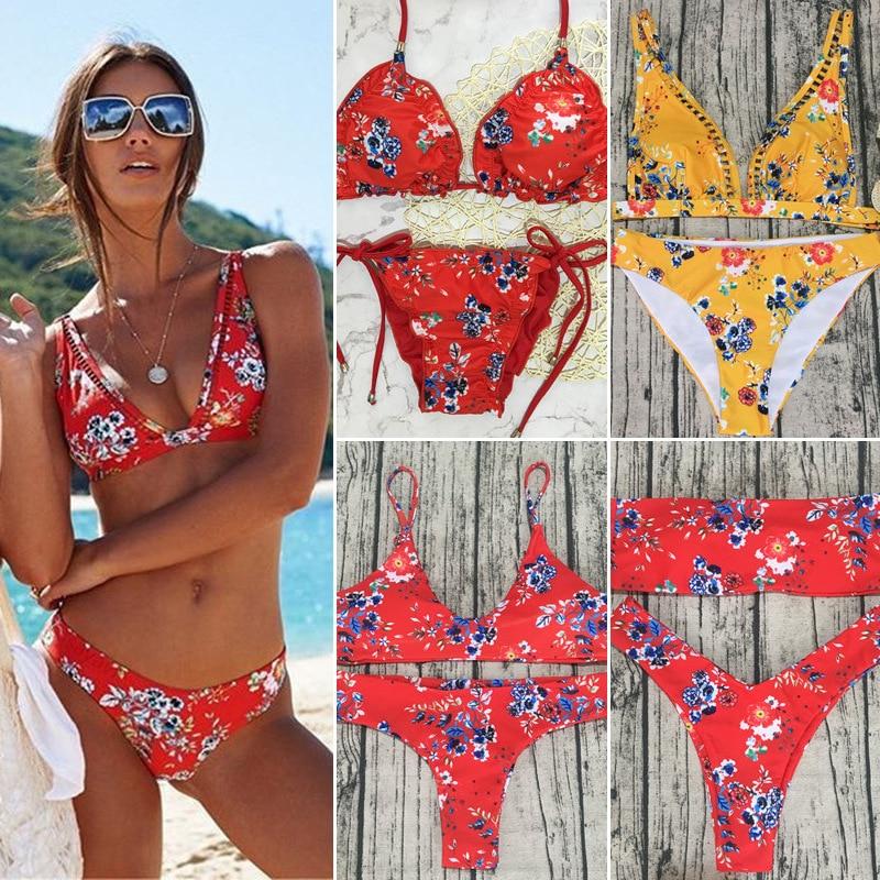 Colorful Bikini Set Swimsuit Bathing Suit Swimwear