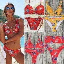 Красочный комплект бикини купальник купальный костюм Купальники