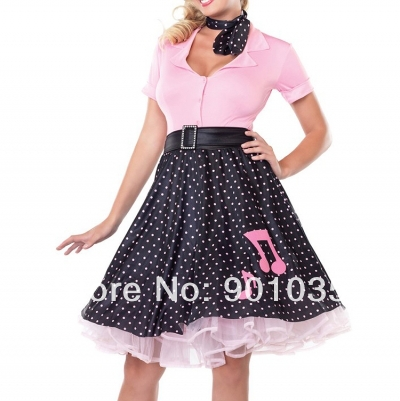 FREE SHIPPING Costume Cosplay Uniform Fancy Dress Up Fantasy Outfit & Gloves