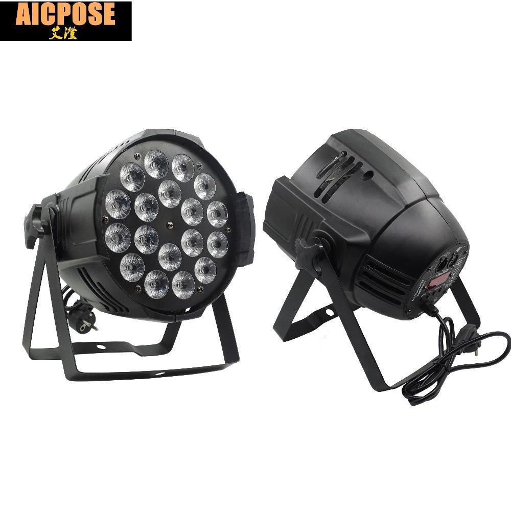 18*12w Light Aluminum LED Par 18x12W RGBW 4in1 LED Par Can Par 64 Led Spotlight Dj Projector Wash Lighting Stage Light