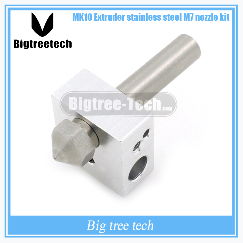 MK10 Extruder  M7 nozzle kit MAKERBOT2-generation M7 stainless steel nozzle & PTFE throat & MK8 Block For 3D printer