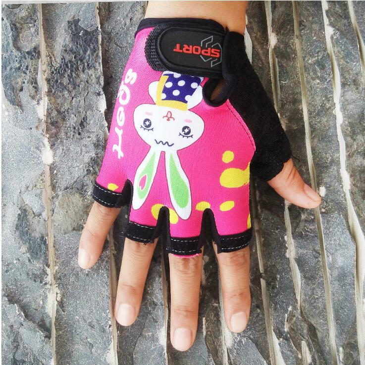 Cycling Gloves Half Finger Breathable Outdoor MTB Road Bike Bicycle Gloves Kids Sport Gloves Mitten for Children Boys Girls nuckily pc03 breathable wearable half finger outdoor cycling gloves blue l pair