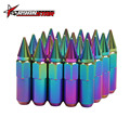 Ryanstar - 60mm Neo Chrome Car Wheel Nuts 12x1.5/1.25 mm Lug Nuts Wtih Spike Wheel Bolts Wheel Nuts