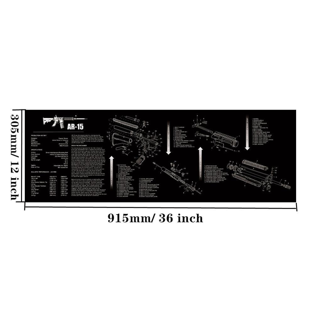 Большой чистящий коврик для ружья AR15 AK47 Glock 1911 SIG винтовка пистолет оружейный оружейник разборка ремонт набор инструментов для сборки скамьи колодки - Цвет: AR15
