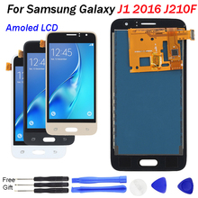 J120F LCD Amoled New For Samsung Galaxy J1 2016 J120 J120A J120M J120FN Touch Screen Digitizer AMOLED Display Assembly