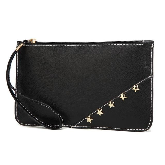 9e465d4807 Dames Étoiles Mini-Jour Embrayage Femelle Bracelets Téléphone Porte-Monnaie  De Mode Femmes PU