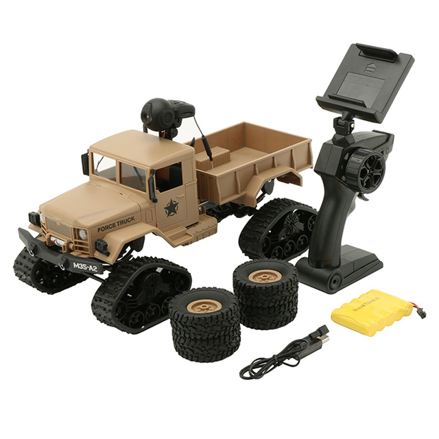 WPL 4WD 1/16 Remote Control Military Truck Replaceable Wheel Drive Off-Road RC Climbing Car Christmas Gift Toy