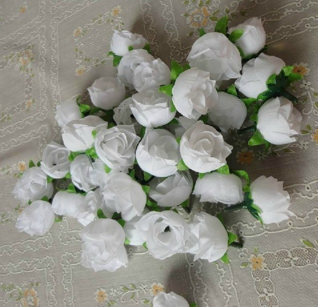 Luxury white silk flowers wholesale festooning top wedding gowns 500x mini flowers white silk rose head wholesale flowers wedding supplies in artificial dried mightylinksfo