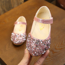2019 Princess Glitter Kids Leather Shoes For Little Girls Dress Wedding Dancing Shose Children Shoes Baby 1 2 3 4 5 6 Year Old(China)