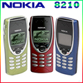8210 original nokia 8210 abrió el teléfono móvil 2g de banda dual gsm 900/1800 gprs clásico barato del teléfono celular del envío gratis
