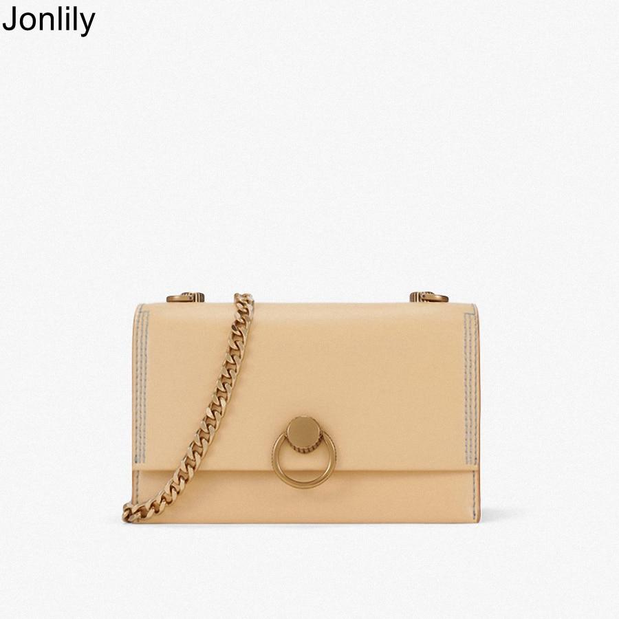 Jonlily femmes PU cuir décontracté Messenger sac été longue chaîne sacs à bandoulière adolescents mode sacs à main sac à main-KG159