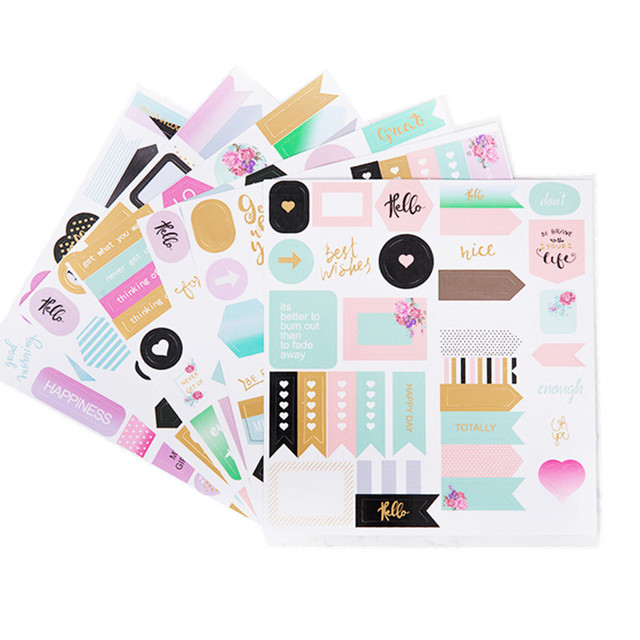 decorative office supplies fancy 1pc cute stickers notebook planner album diary diy decorative sticker papelaria stationery school office supplies creative