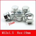 16PCS M12x1.5 REPLACEMENT WHEEL NUTS ALLOY 19MM FOR FORD /Kuga CORTINA  EcoSport Fiesta FOCUS CHROME