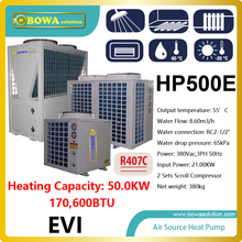 50KW or 170,000BTU -25'C  air source water heat pump heater  for villa , please consult shipping costs with seller