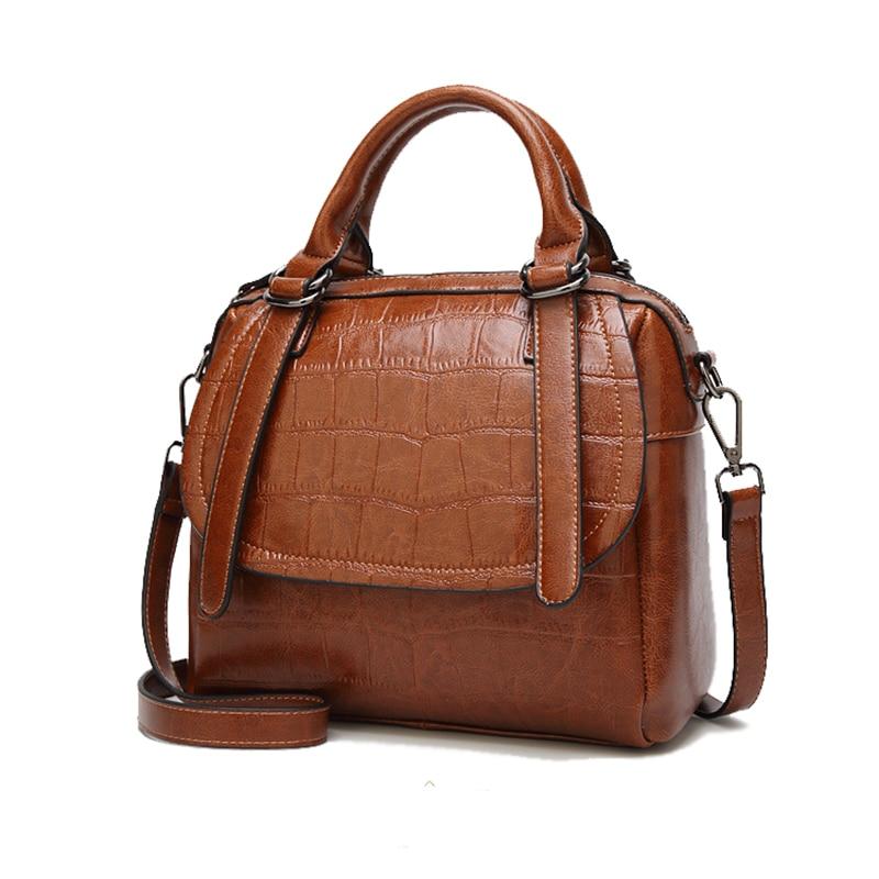 DIMINUTIVE 2018 Time Limit Female Patent Leather Handbag Luxury Shoulder Bag Business Briefcase Tote Crocodile Pattern Satchels