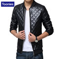 Men Overcoat Faux Leather Coat Korean Fashion Slim men's Leather Jacket Windbreaker Outerwear Coats With Rib Sleeve Style
