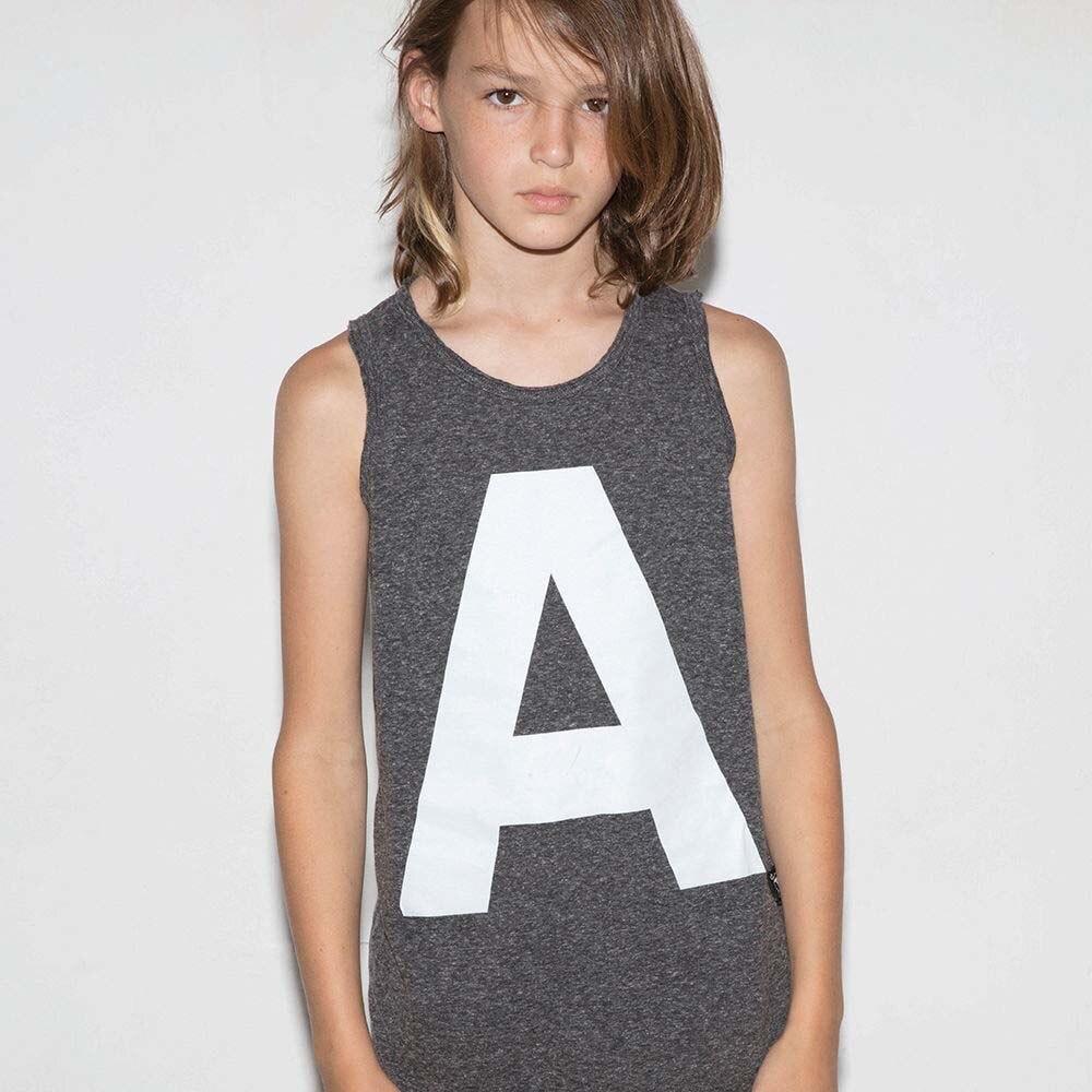 Bobo Choses Baby Letter Print T-shirts Girls Boys Cotton Sleeveless T shirts Baby Tees Tops NUNUNU Kids Cute Vest for Summer