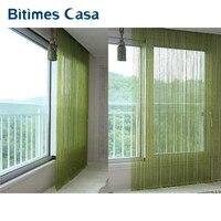 Free Shipping Solid Color Decorative String Curtain 300cm 300cm Classic Elegant Line Curtain Window Vanlance Room