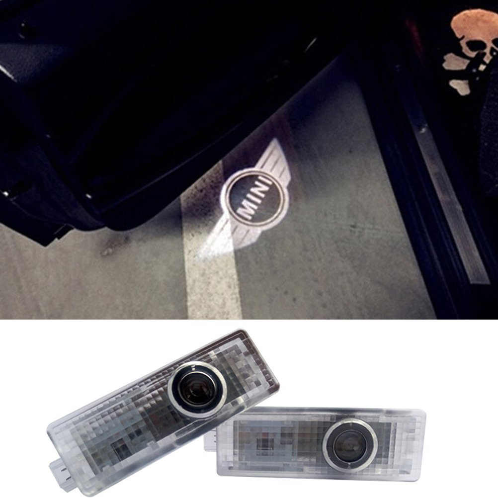 2PCS Car Door Projector Lights Wireless Led Car Lights With Magnet Sensor Auto Courtesy Welcome Logo for Mini