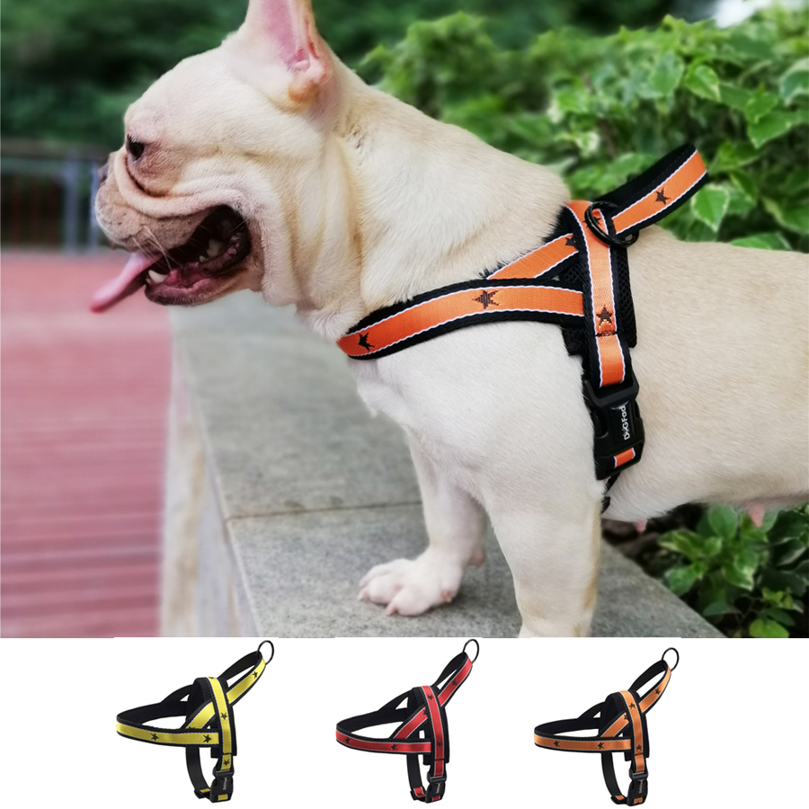 No Pull Dog Harness Adjustable Quick Fit Strap Easy for Walking Training Pet Vest wish handle